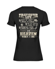 Firefighter Life A Piece Of Jerky When I'm Hungry Premium Fit Ladies Tee thumbnail