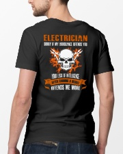 Electrician My Arrogance Offends You Classic T-Shirt lifestyle-mens-crewneck-back-5