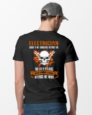 Electrician My Arrogance Offends You Classic T-Shirt lifestyle-mens-crewneck-back-6