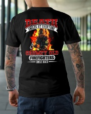 Death Smiles At Every One Grumpy Old Firefighter Classic T-Shirt lifestyle-mens-crewneck-back-3