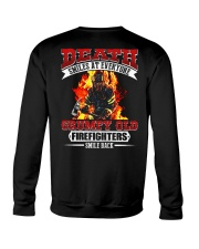 Death Smiles At Every One Grumpy Old Firefighter Crewneck Sweatshirt thumbnail