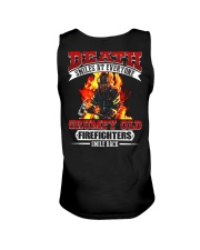 Death Smiles At Every One Grumpy Old Firefighter Unisex Tank thumbnail