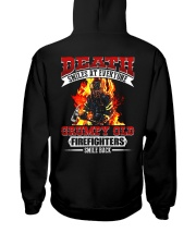 Death Smiles At Every One Grumpy Old Firefighter Hooded Sweatshirt thumbnail
