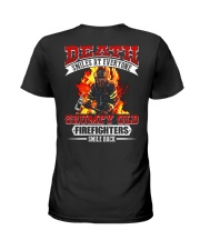 Death Smiles At Every One Grumpy Old Firefighter Ladies T-Shirt thumbnail