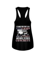 Kneel To Finish Concrete Ladies Flowy Tank thumbnail