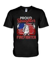 Proud Daughter Firefighter V-Neck T-Shirt thumbnail