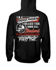 Concrete Finisher Because Your Honor Roll Student Hooded Sweatshirt thumbnail