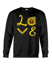 Nurse Love Sunflower Crewneck Sweatshirt thumbnail