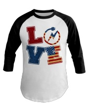 Love Electrician Baseball Tee tile