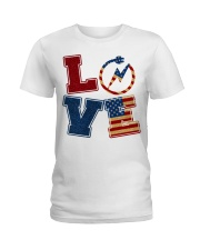 Love Electrician Ladies T-Shirt tile