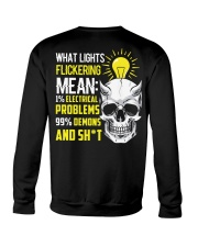 Electrician Lights Flickering  Crewneck Sweatshirt thumbnail