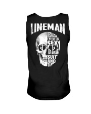 Lineman Because I'm Far Too Sexy To Wear Suit Unisex Tank thumbnail