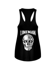 Lineman Because I'm Far Too Sexy To Wear Suit Ladies Flowy Tank thumbnail
