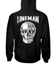 Lineman Because I'm Far Too Sexy To Wear Suit Hooded Sweatshirt thumbnail