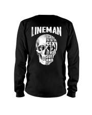 Lineman Because I'm Far Too Sexy To Wear Suit Long Sleeve Tee thumbnail