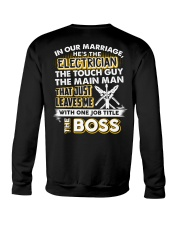 In Our Marriage He's The Electrician Crewneck Sweatshirt thumbnail