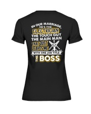 In Our Marriage He's The Electrician Premium Fit Ladies Tee thumbnail
