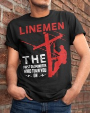 Linemen First Responders Turn You On Classic T-Shirt apparel-classic-tshirt-lifestyle-26