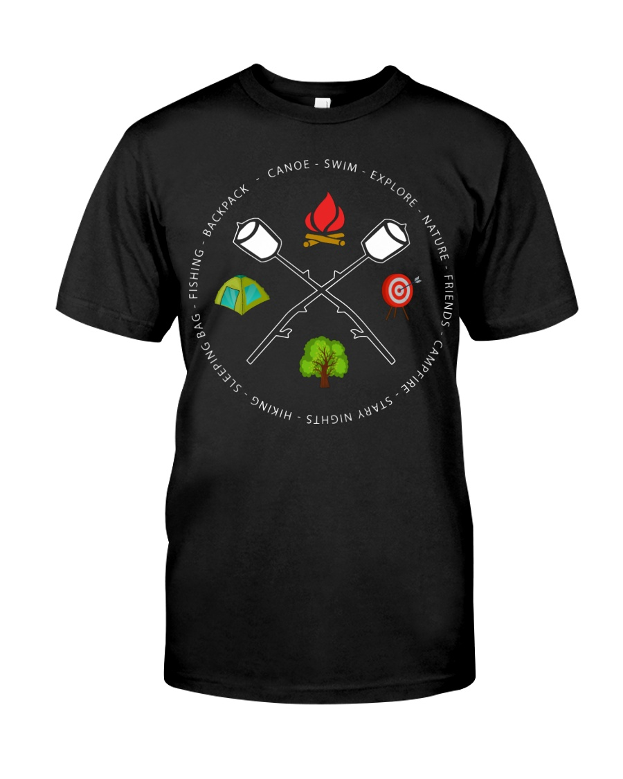 Canoe Swim Explore Nature Friends Campfire Classic T-Shirt