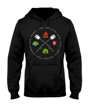 Canoe Swim Explore Nature Friends Campfire Hooded Sweatshirt thumbnail
