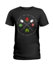 Canoe Swim Explore Nature Friends Campfire Ladies T-Shirt thumbnail