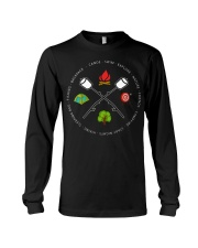 Canoe Swim Explore Nature Friends Campfire Long Sleeve Tee thumbnail