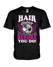 Hair Stylist Knows What You Want Before You Do V-Neck T-Shirt thumbnail