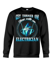 Electrician Turned On Crewneck Sweatshirt thumbnail