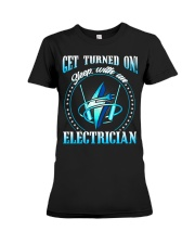 Electrician Turned On Premium Fit Ladies Tee thumbnail
