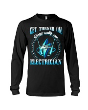 Electrician Turned On Long Sleeve Tee thumbnail