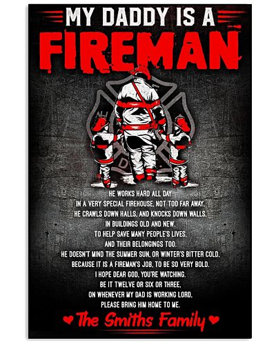 My Daddy Is A Fireman Poster