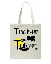 Tricker Or Teacher Tote Bag thumbnail