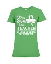Kiss Me I'm A Teacher Tee Premium Fit Ladies Tee thumbnail