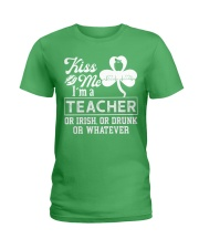 Kiss Me I'm A Teacher Tee Ladies T-Shirt tile