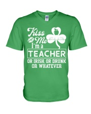 Kiss Me I'm A Teacher Tee V-Neck T-Shirt tile