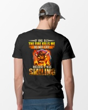 Firefighter I Was Smiling Classic T-Shirt lifestyle-mens-crewneck-back-6