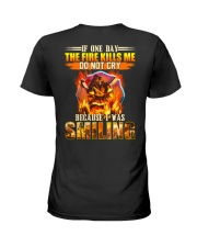 Firefighter I Was Smiling Ladies T-Shirt thumbnail