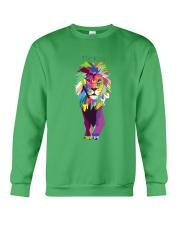Lion Popart Portrait Crewneck Sweatshirt front