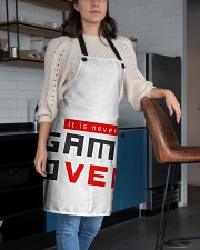 It Is Never Game Over - Ever Apron aos-apron-27x30-lifestyle-front-02