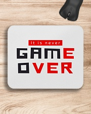 It Is Never Game Over - Ever Mousepad aos-mousepad-front-lifestyle-1
