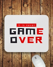 It Is Never Game Over - Ever Mousepad aos-mousepad-front-lifestyle-2