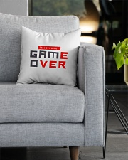 It Is Never Game Over - Ever Square Pillowcase aos-pillow-square-front-lifestyle-05