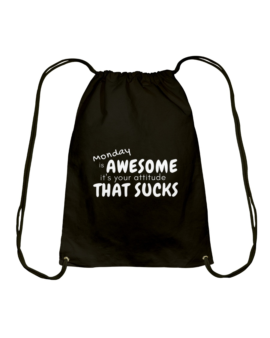 Awesome Monday Drawstring Bag