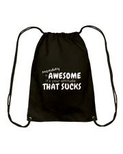 Awesome Monday Drawstring Bag front
