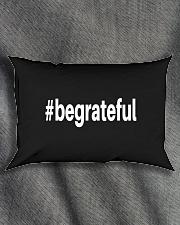 Be Grateful Rectangular Pillowcase aos-pillow-rectangle-front-lifestyle-1
