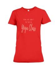 No Yoga Premium Fit Ladies Tee front