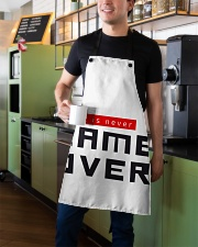 It Is Never Game Over Apron aos-apron-27x30-lifestyle-front-01