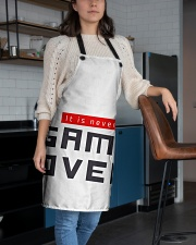 It Is Never Game Over Apron aos-apron-27x30-lifestyle-front-02