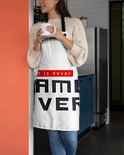 It Is Never Game Over Apron aos-apron-27x30-lifestyle-front-05
