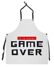 It Is Never Game Over Apron thumbnail